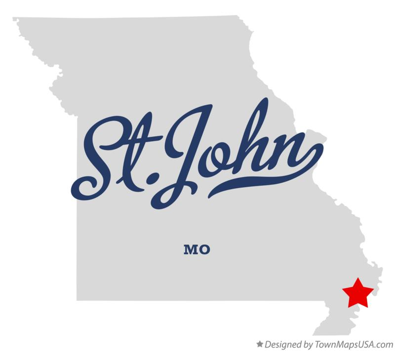 Map of St.John Missouri MO