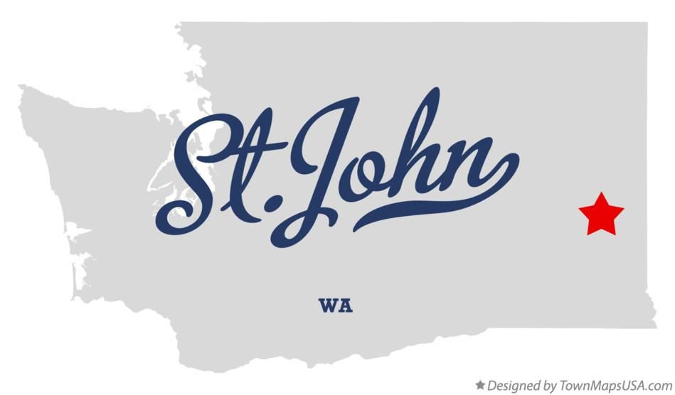 Map of St.John Washington WA