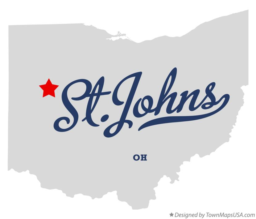 Map of St.Johns Ohio OH