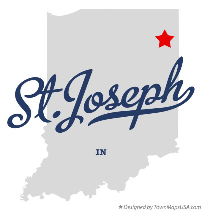 Map of St.Joseph Indiana IN