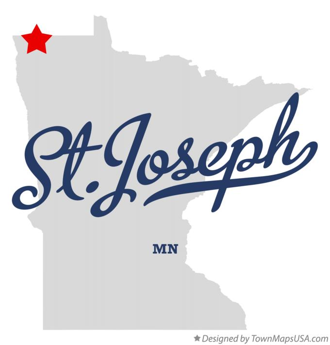 Map of St.Joseph Minnesota MN