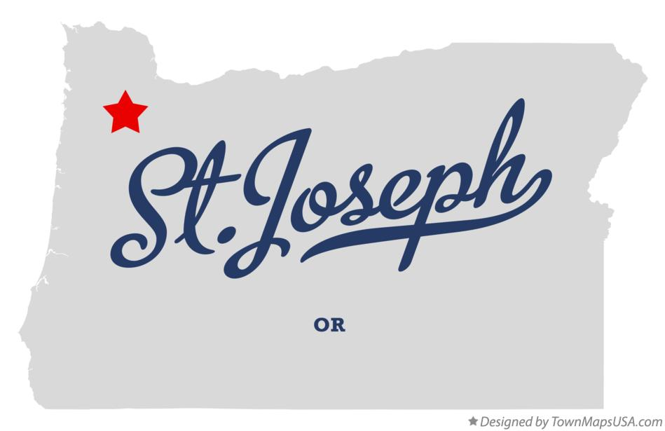 Map of St.Joseph Oregon OR