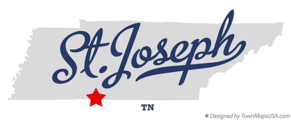Map of St.Joseph Tennessee TN