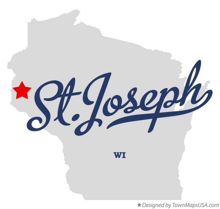 Map of St.Joseph Wisconsin WI