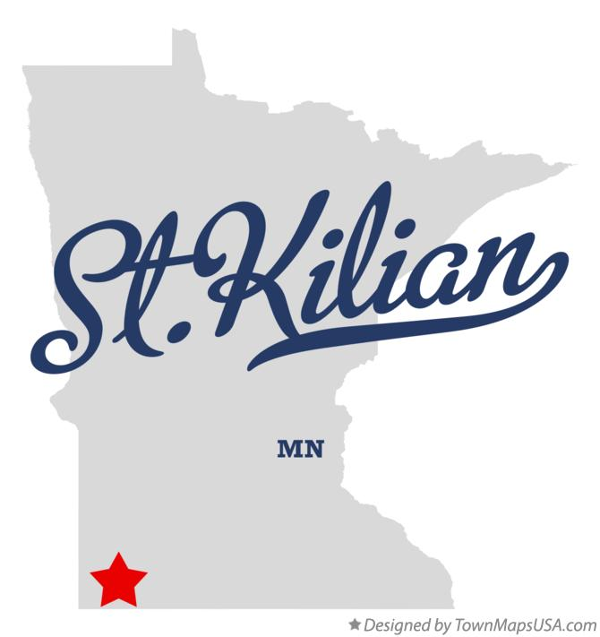 Map of St.Kilian Minnesota MN