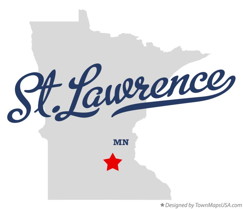 Map of St.Lawrence Minnesota MN
