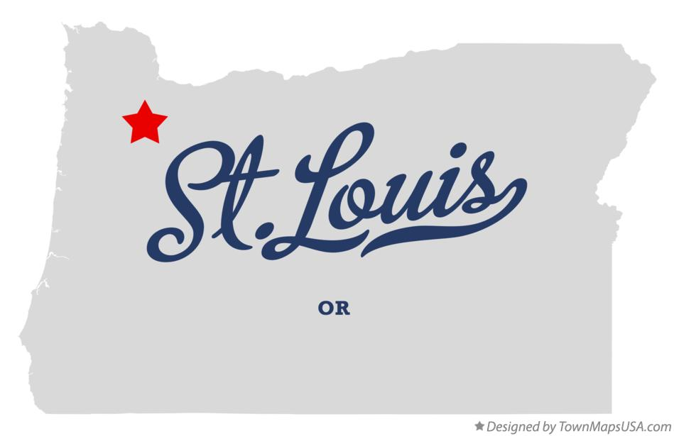 Map of St.Louis Oregon OR