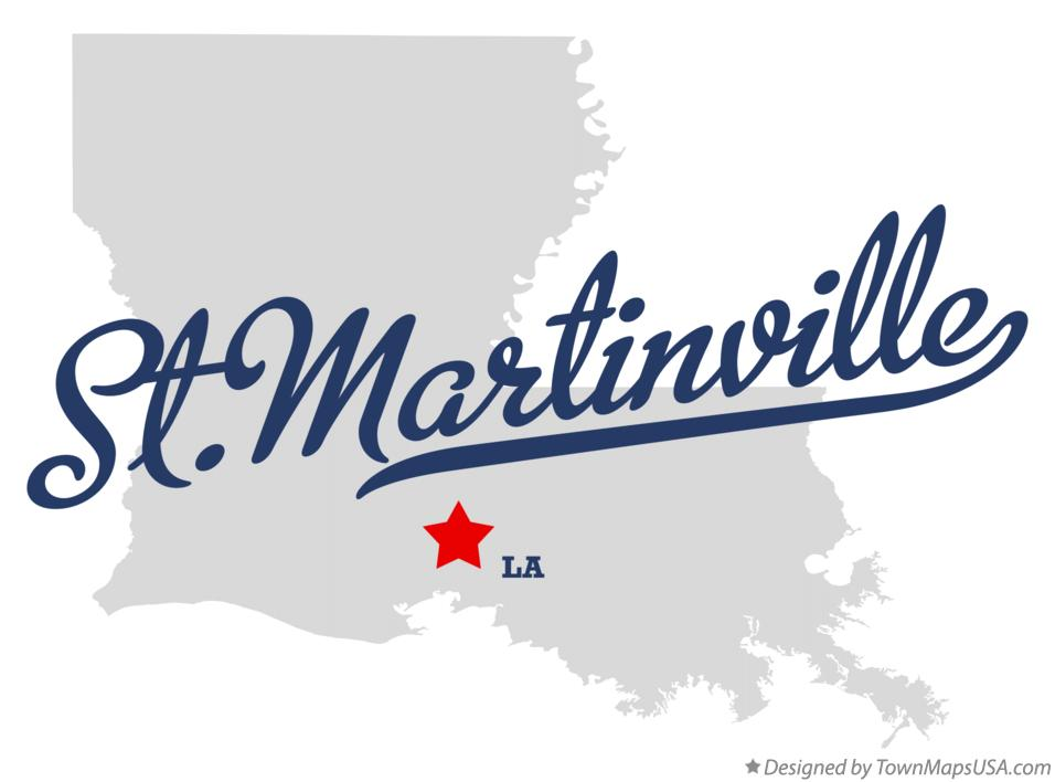 Map of St.Martinville Louisiana LA