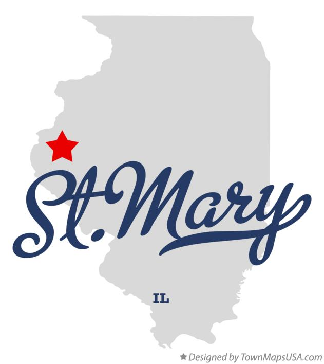Map of St.Mary Illinois IL