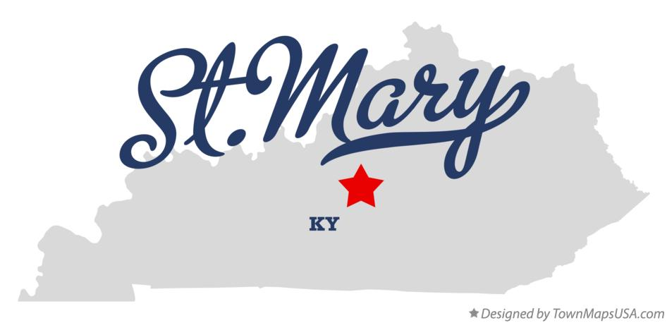 Map of St.Mary Kentucky KY