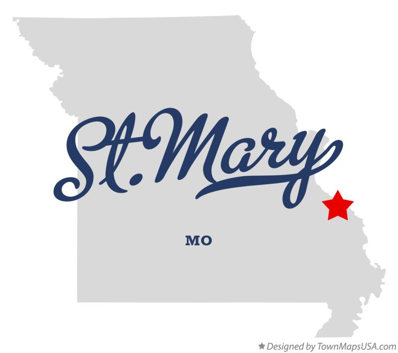 Map of St.Mary Missouri MO