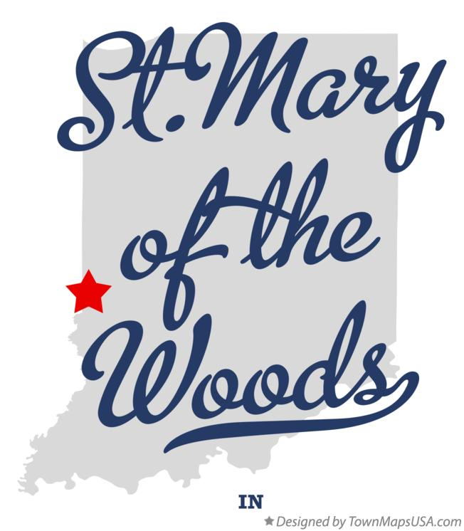 Map of St.Mary-of-the-Woods Indiana IN