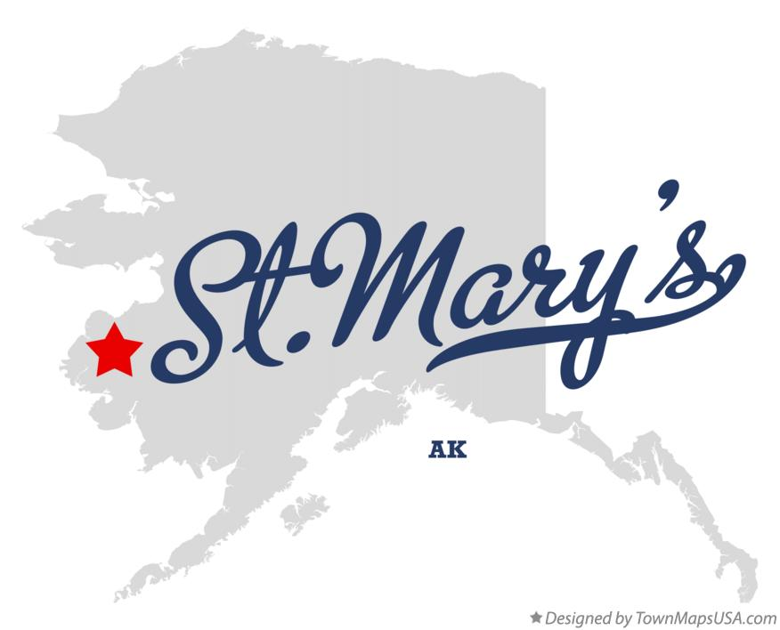Map of St.Mary's Alaska AK