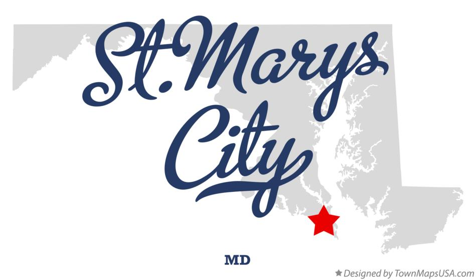 Map of St.Marys City Maryland MD