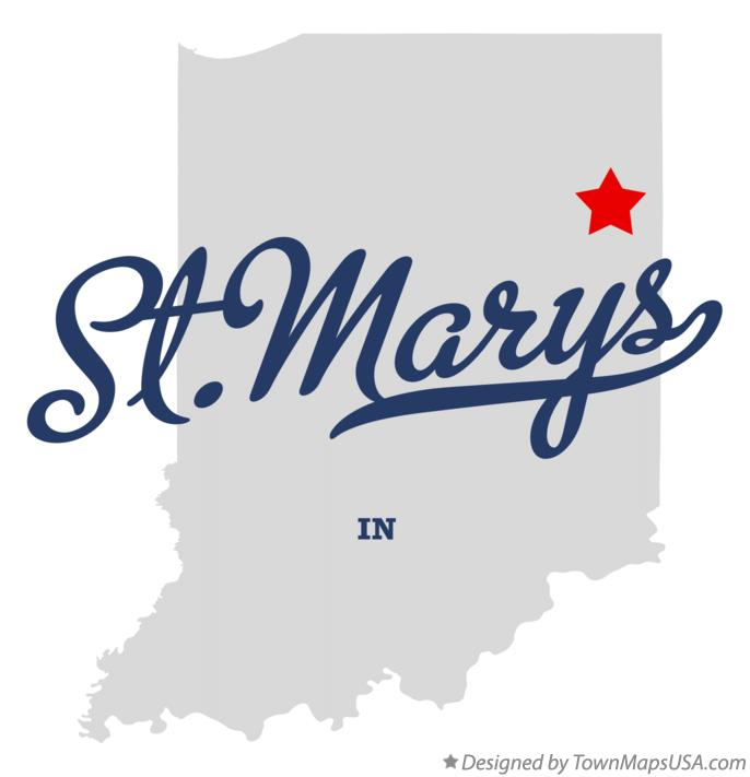Map of St.Marys Indiana IN
