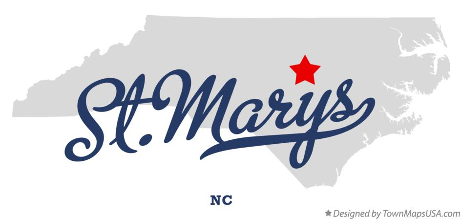 Map of St.Marys North Carolina NC