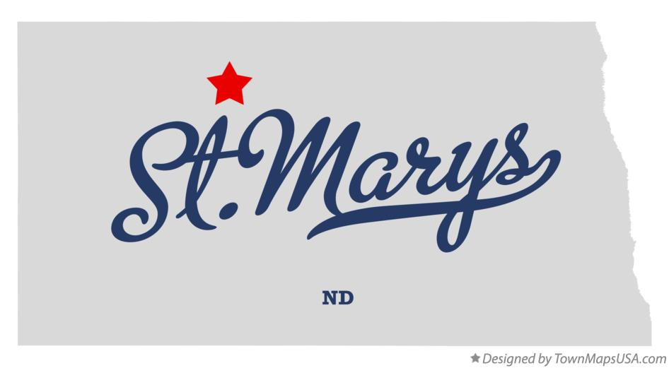 Map of St.Marys North Dakota ND