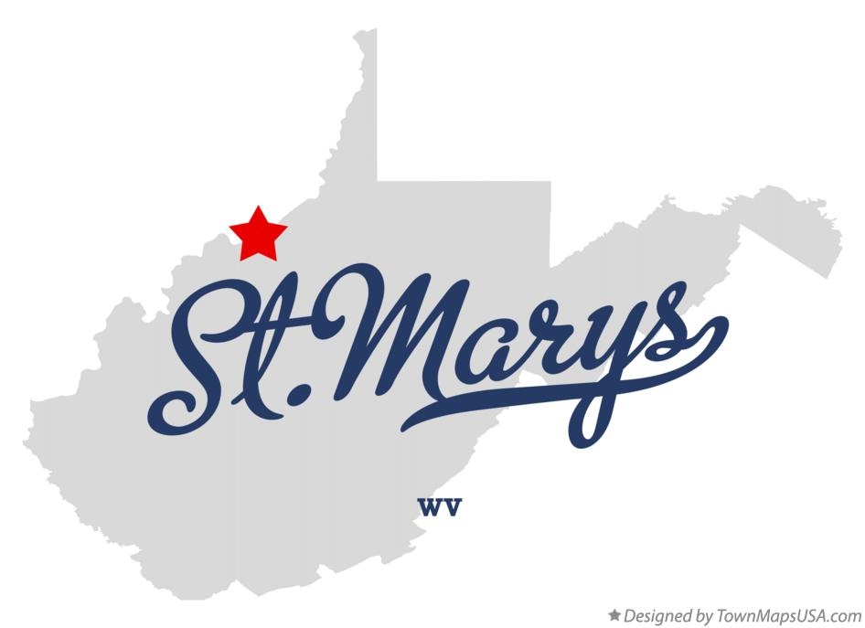 Map of St.Marys West Virginia WV