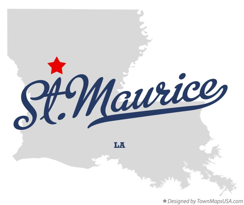 Map of St.Maurice Louisiana LA