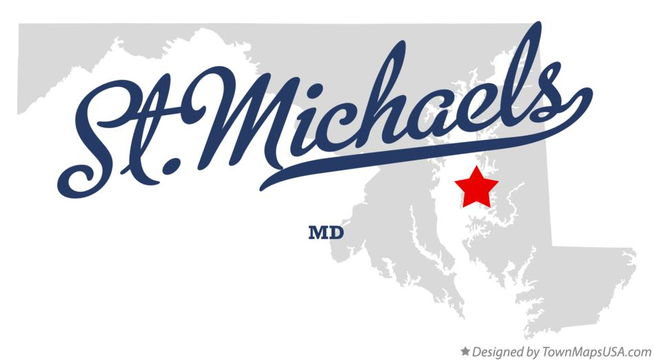 Map of St.Michaels Maryland MD