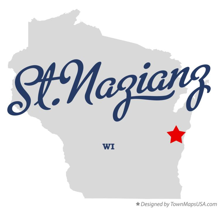 Map of St.Nazianz Wisconsin WI