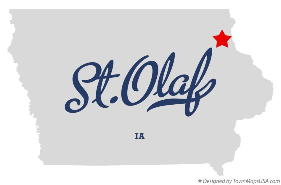 Map of St.Olaf Iowa IA