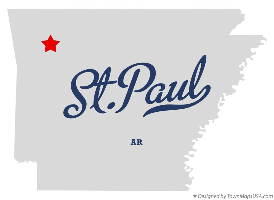 Map of St.Paul Arkansas AR