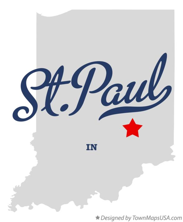 Map of St.Paul Indiana IN