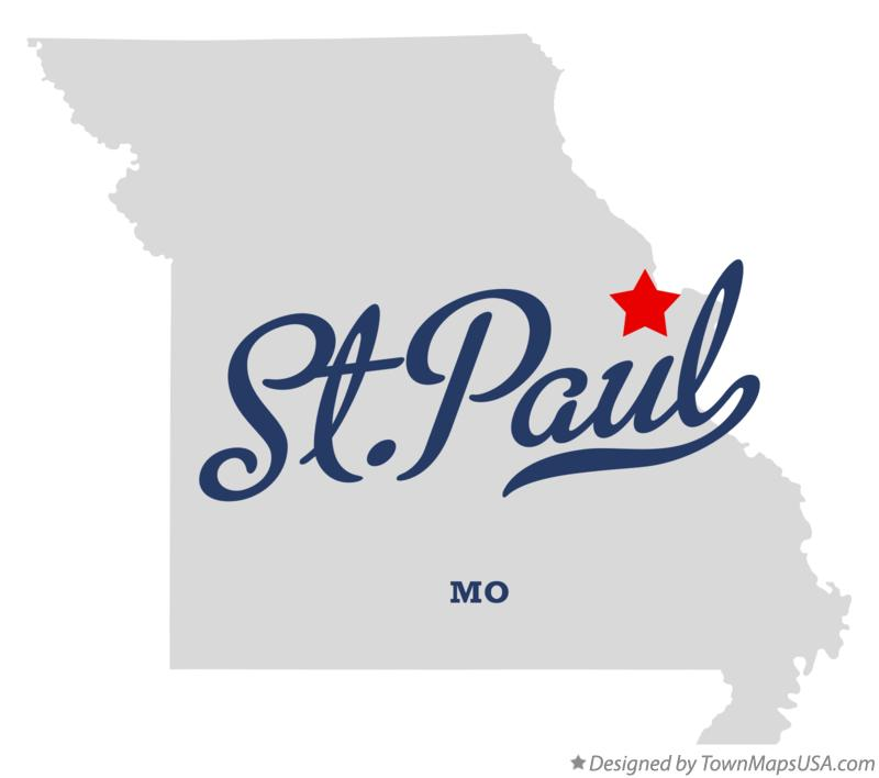 Map of St.Paul Missouri MO