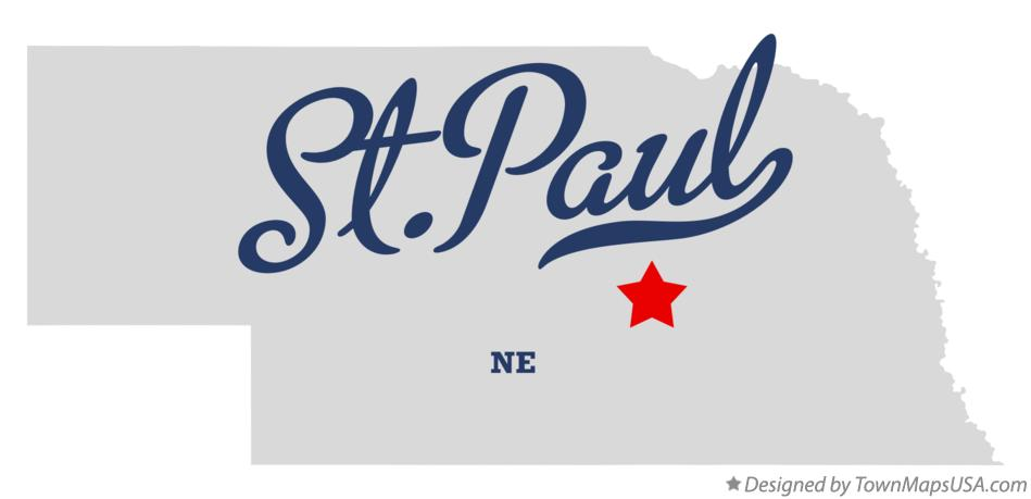 Map of St. Paul Nebraska NE