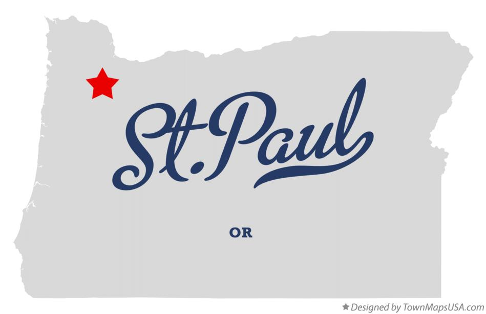 Map of St.Paul Oregon OR