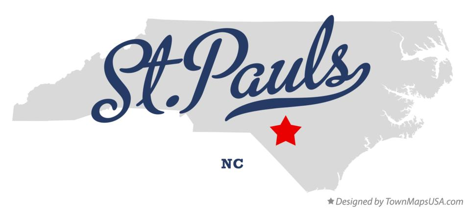St Paul Nc Map.Map Of St Pauls Nc North Carolina