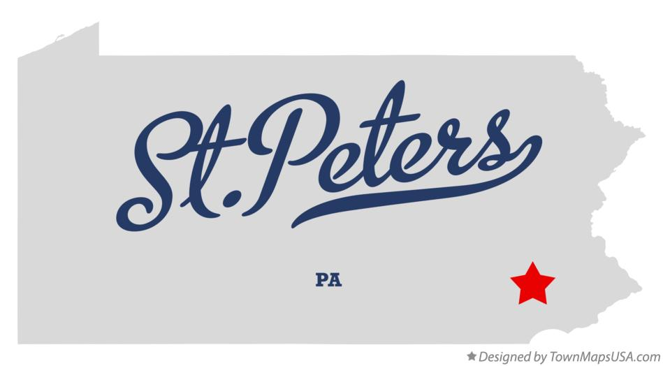 Map of St.Peters Pennsylvania PA