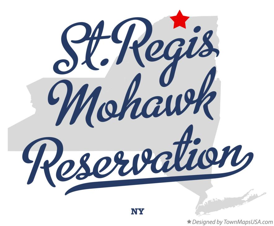 Map of St.Regis Mohawk Reservation New York NY