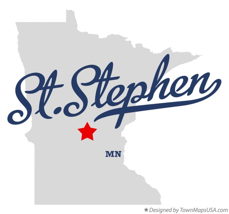 Map of St.Stephen Minnesota MN