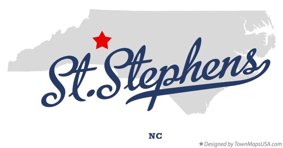 Map of St.Stephens North Carolina NC