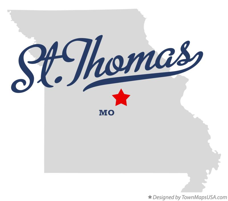Map of St.Thomas Missouri MO
