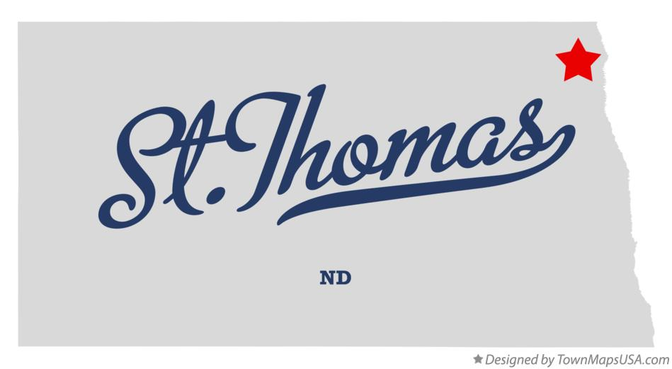 Map of St.Thomas North Dakota ND