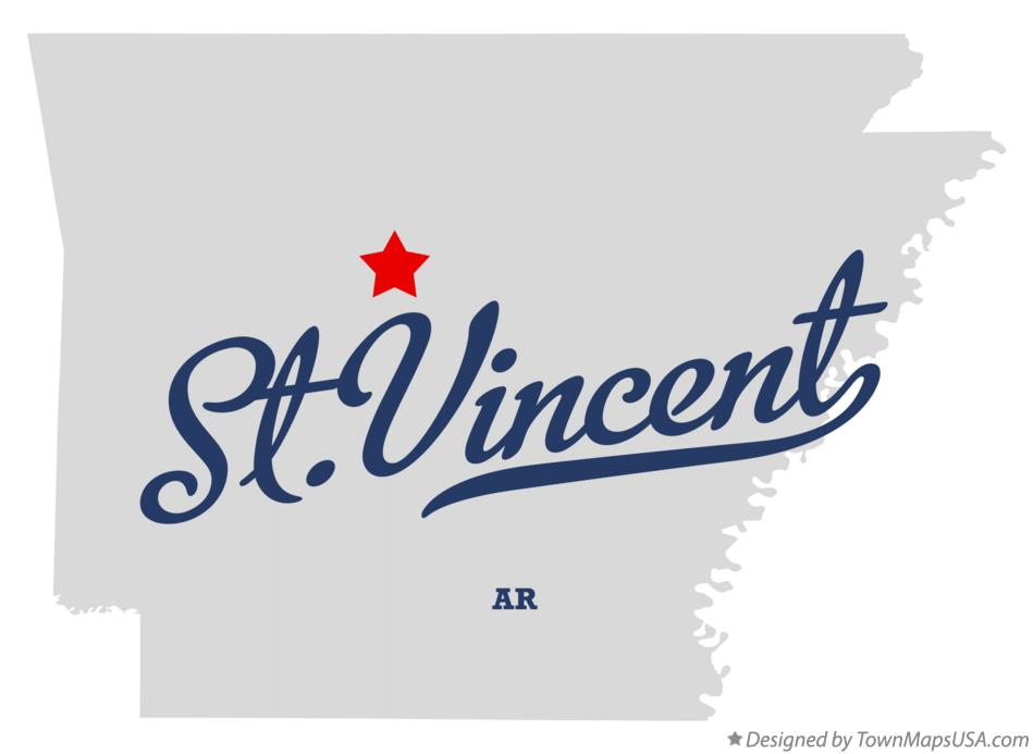 Map of St.Vincent Arkansas AR