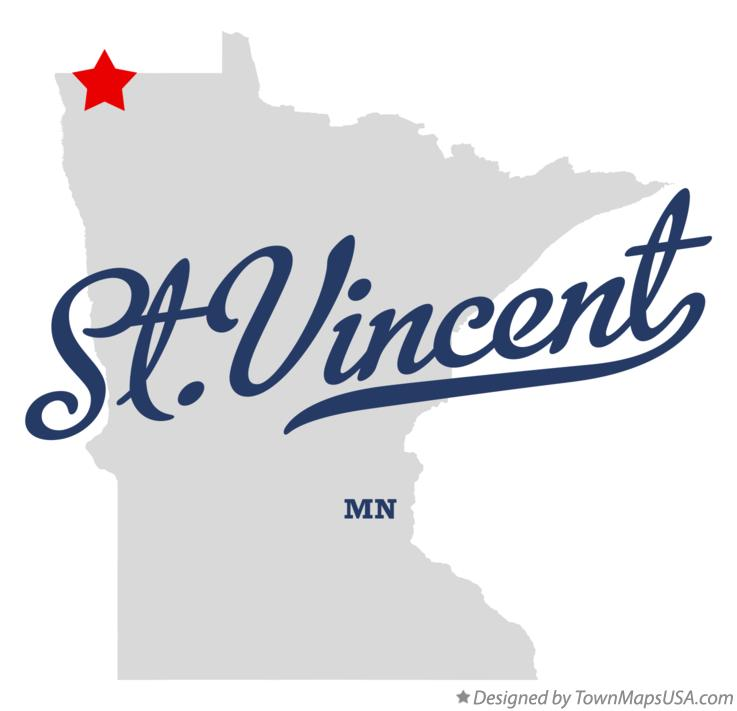 Map of St.Vincent Minnesota MN