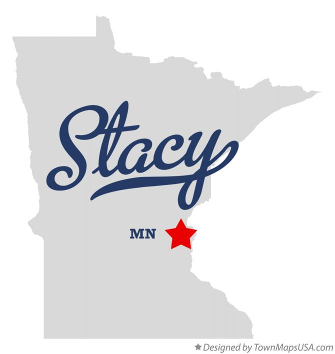 Map of Stacy Minnesota MN