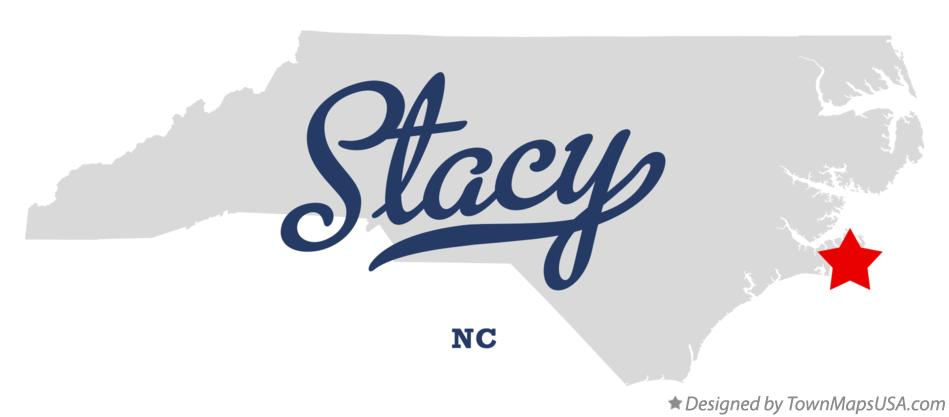 Map of Stacy North Carolina NC