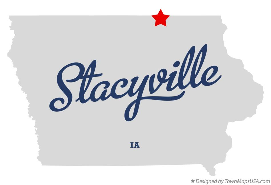 Map of Stacyville Iowa IA
