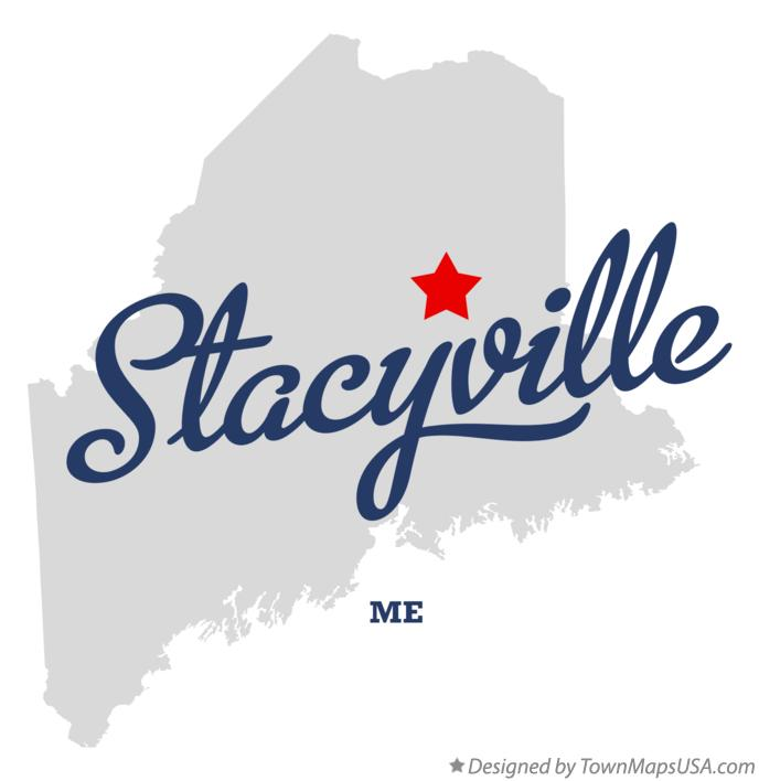 Map of Stacyville Maine ME