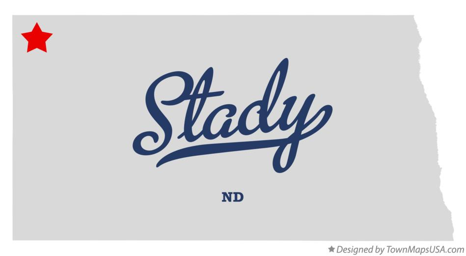 Map of Stady North Dakota ND