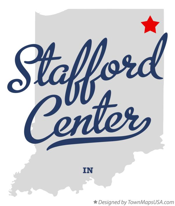 Map of Stafford Center Indiana IN