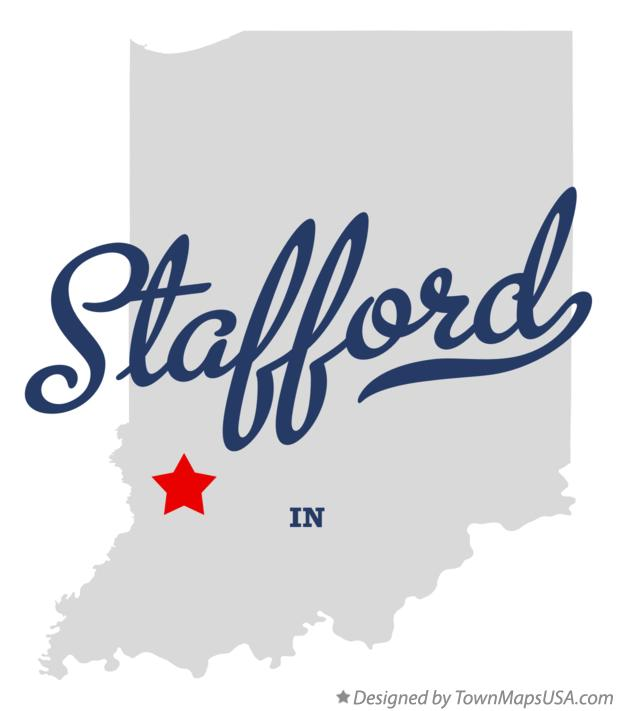 Map of Stafford Indiana IN