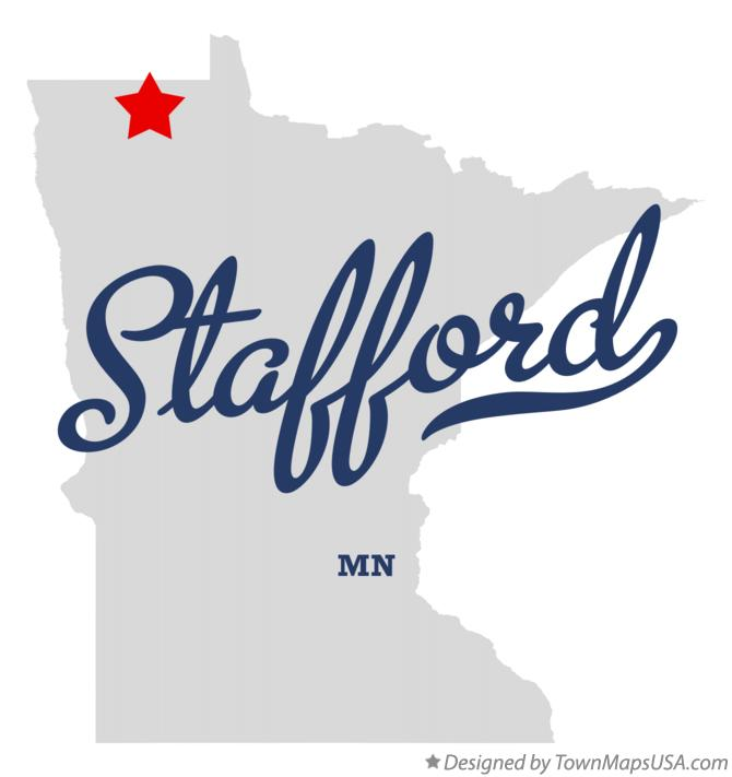 Map of Stafford Minnesota MN