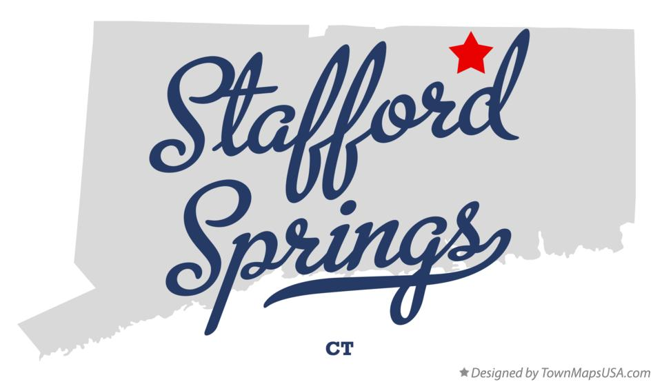 Map of Stafford Springs Connecticut CT