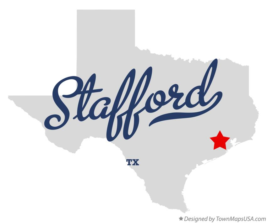 Map of Stafford Texas TX